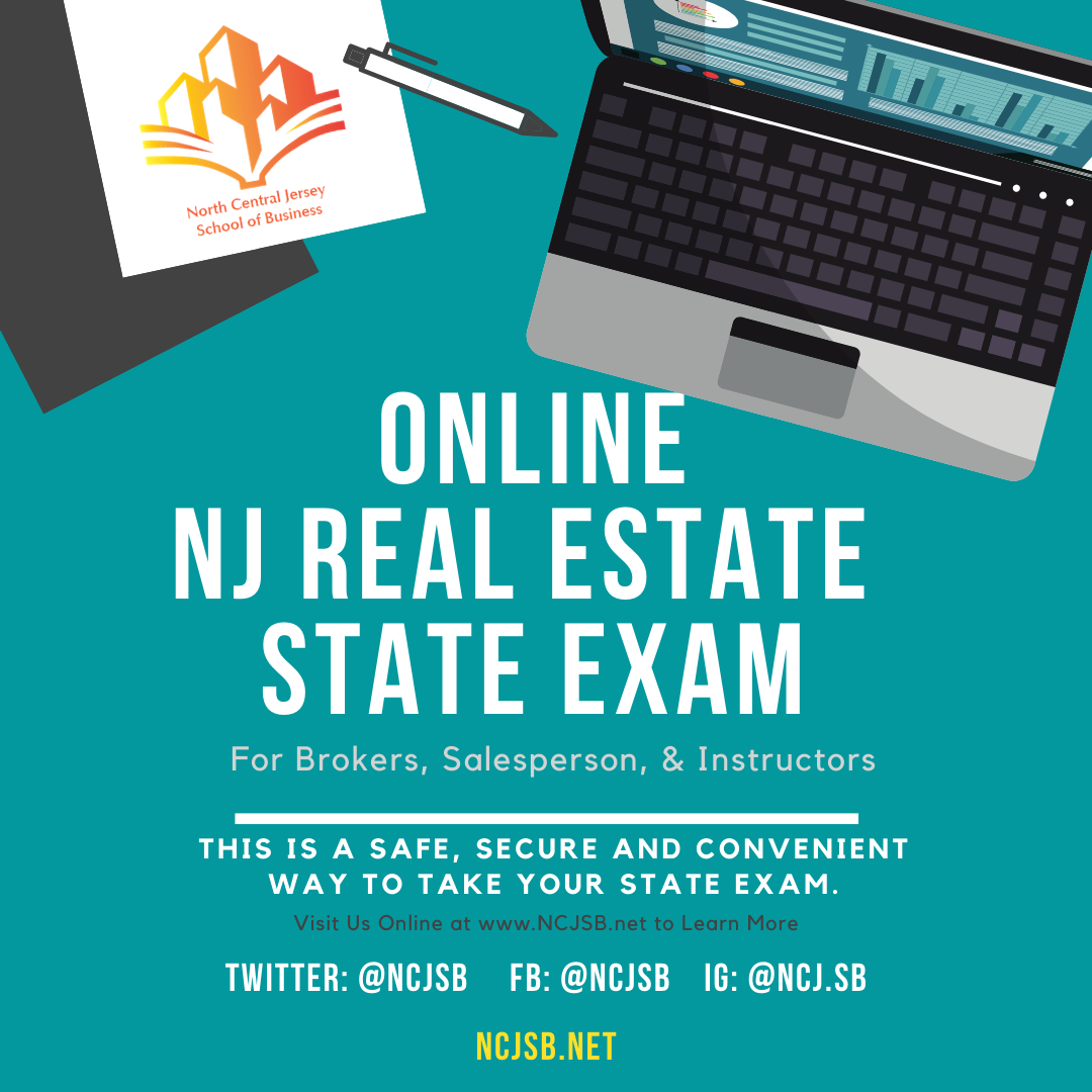 ONLINE NJ Real Estate State EXAM